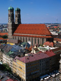 Towers of Frauenkirche (Church of Our Lady), Munich, Germany Photographic Print by Wayne Walton