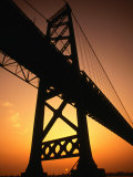 Ambassador Suspension Bridge, the Link Between the Us and Canada, USA Fotografisk trykk av Greg Johnston