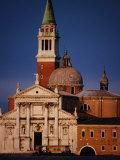 Exterior of Chiesa Di San Giorgio Maggiore, Venice, Italy Fotografie-Druck von Damien Simonis