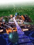 Information Superhighway Fotoprint av Jon Riley