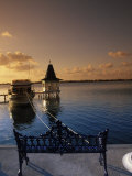 Sunset Over the Lagoon, Cancun, Mexico Photographic Print by Angelo Cavalli