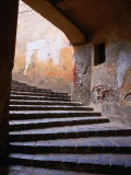 Stairs Leading to the Old Town, Sighisoara, Romania Photographic Print by David Greedy