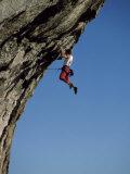 Hanging from a Cliff Lámina fotográfica