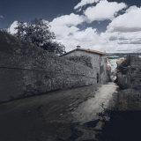 Street, Montalcino, Italy Fotografisk trykk av Ellen Kamp