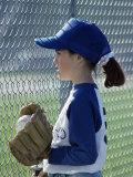 Little League Baseball Player Photographic Print