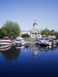 City Hall and Marina, Kingston Ontario, Canada Fotografisk tryk af Mark Gibson