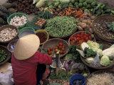 Vegetable Market, Hue, Vietnam Photographic Print by Keren Su