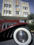 Ocean Drive with Classic Car and Majestic Hotel, South Beach, Miami, Florida, USA Photographic Print by Robin Hill