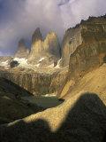 Clouds over Torres del Paine Mountains, Patagonia, Chile Lámina fotográfica por Janis Miglavs