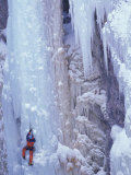 Ice Climbing, Ouray, Colorado, USA Photographic Print by Lee Kopfler