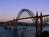 Yaquina Bay Bridge Newport Oregon USA Lámina fotográfica