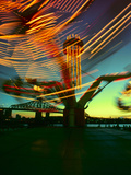 Exciting Blurred Lights from the Carnival Photographic Print