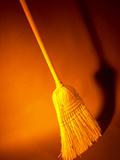 Straw Broom in Orange Light Photographic Print