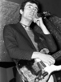 Hugh Cornwell (28), Leader of the Rock Group the Stranglers, October 1977 Fotografisk tryk