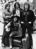 Slade Noddy Holder Dave Hill with Suitcases Fotografisk tryk