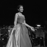 Maria Callas Singing at the Royal Festival Hall, 1959 Lámina fotográfica