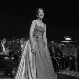 Maria Callas Singing at the Royal Festival Hall, 1960 Fotografie-Druck