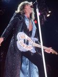 Bon Jovi Rock Group in Concert at Wembley, December 1988 Fotografisk tryk