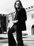 David Coverdale of Pop Group Deep Purple in the Grounds of Clearwell Castle Fotografisk tryk