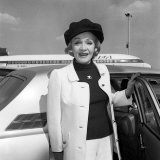 Marlene Dietrich Arriving at Heathrow Airport from Paris Photographic Print