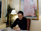 Robert Palmer at His Home Fotografisk tryk
