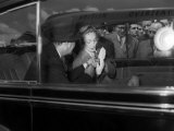 Marlene Dietrich Arrival in London for Cabaret Photographic Print