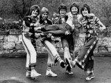 The Bay City Rollers: Derek Longmuir, Alan Longmuir, Les Mckeown,Ian Mitchell, Stewart Wood, 1975 Photographic Print