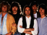 Status Quo Rock Group Band Members Francis Rossi and Rick Parfitt with the Other Members of Band Stampa fotografica