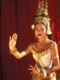Traditional Dancer and Costumes, Khmer Arts Dance, Siem Reap, Cambodia Photographic Print by Bill Bachmann