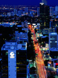 Overhead of Banking Area, Dusk, Panama City, Panama Photographic Print by Alfredo Maiquez