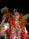 Colorful Dancer, Tourism in Oaxaca, Mexico Photographic Print by Bill Bachmann