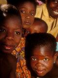 Faces of Ghanaian Children, Kabile, Brong-Ahafo Region, Ghana Fotografisk tryk af Alison Jones