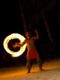 Fire Dance at Bora Bora Nui Resort and Spa, Bora Bora, Society Islands, French Polynesia Photographic Print by Michele Westmorland