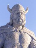 Statue of Viking, Gimli Manitoba Stampa fotografica di Keith Levit