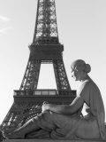 View of Eiffel, Tower, Paris, France Stampa fotografica di Keith Levit