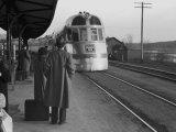 The Burlington Zephyr, East Dubuque, Illinois, c.1940 Foto af John Vachon