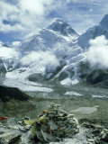 Mount Everest and Khumbu Icefall and Glacier, Nepal Photographic Print by Paul Franklin