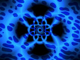Abstract Blue Fractal Pattern Photographic Print by Albert Klein