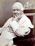 Portrait of Pope Pius Ix, Seated. He is Wearing a White Cassock Lámina fotográfica
