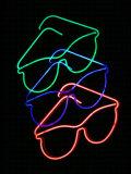 Neon Sign, USA Fotografisk tryk af David M. Dennis