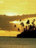 Sunset at Salani Village, Western Samoa Photographic Print by Scott Winer