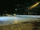 Soccer field Lit Up at Night, Rio de Janeiro, Brazil Photographic Print