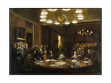 A Painting Depicts the Founding of the National Geographic Society Giclée-tryk af Stanley Meltzoff
