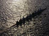 Crew Boat at Head of Charles Regatta Photographic Print