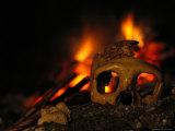 Close View of the Skull of a Neandertal Woman Fotografisk tryk af Kenneth Garrett
