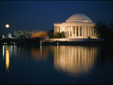 View of the Jefferson Memorial at Night Photographic Print by Richard Nowitz