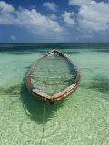 A Boat Submerged in Crystal Clear Water Impressão fotográfica por Bill Curtsinger