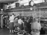Long Distance Telephone Exchange in London Photographic Print by B. Anthony Stewart