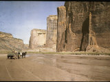 Canyon Del Muerto is One of Many on the Chinle Wash Reproduction photographique par Edwin L. Wisherd