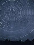 A Time-Exposure Creates Circular Star Tracks Around Polaris Photographic Print by J. Baylor Roberts